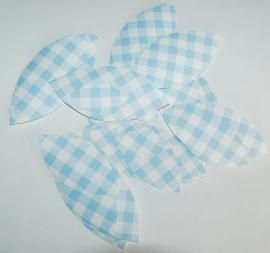 Behangblaadjes ruitjes blauw