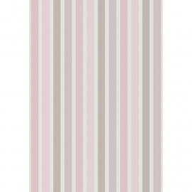 Streepjes STOF in beige grijs roze