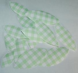 Behangblaadjes ruitjes groen