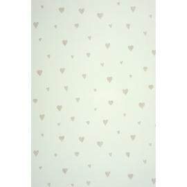 054. Hartjesbehang in grijs