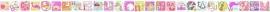 ABC behangrand paars roze groen 111