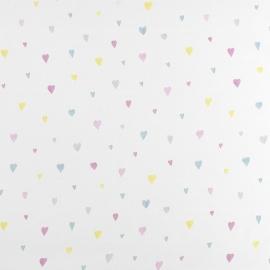 058. Hartjes VOILESTOF in roze kleuren