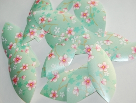 Behangblaadjes PIP groene bloemetjes