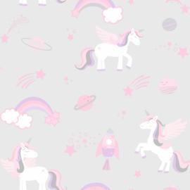 Unicorns, rockets and rainbows 90960 grijs