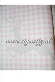 My Dear Rudolf Grijs met roze wit Ruitjes 7607