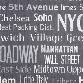 Life Manhattan behang antraciet