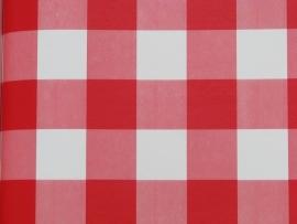 02. Behang per meter Ruit rood wit