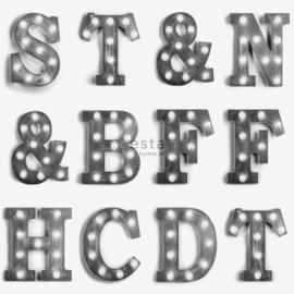 Esta Home FAB Houten licht letters behang 138849