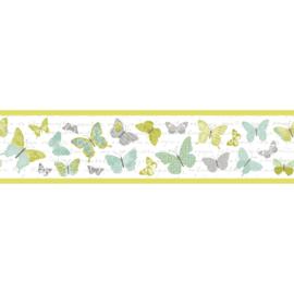 Vlinder rand mint grijs groen 7070