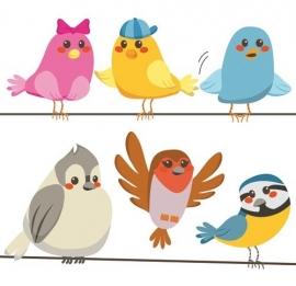 13058 Happy Birds Dutch DigiWalls Olly Fotobehang