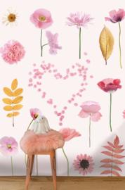 LittleOZP 3772 Bloemenposter roze
