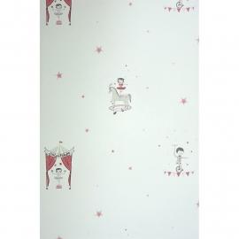 016. Circusbehang meisje roze