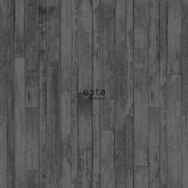 Esta Greenhouse  krijtverf vintage sloophout planken zwart en bruin 128841