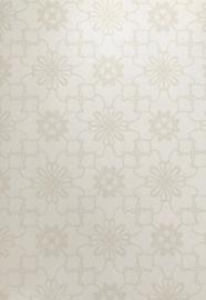 Puck & Rose behang Grafische bloemen 27126  zand beige wit
