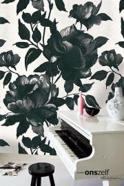 Onszelf Poster Bloemen zwart wit  OZ3736