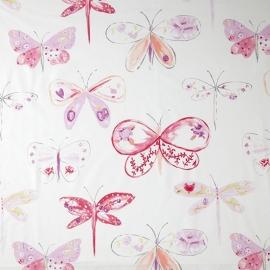 Caselio Vlinderstof in lila paars roze fuchsia