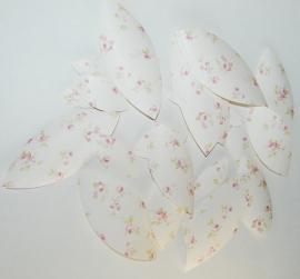 Behangblaadjes oudroze roosjes