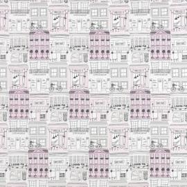 045. Londen STOF in grijs roze creme