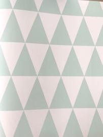 Esta Greenhouse grafisch geometrische driehoek mint mat wit 128843