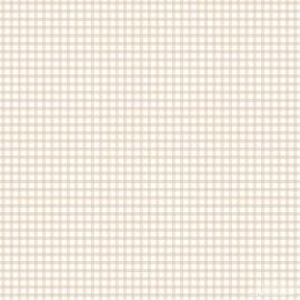 Ruitjesbehang beige wit 103