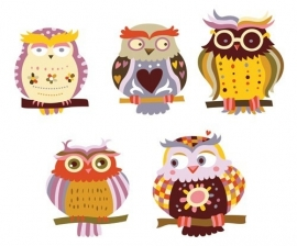 13032 Wise Owl Dutch DigiWalls Olly Fotobehang