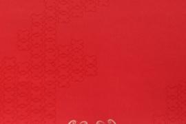 Onszelf  Patroonbehang fee met vlinders rood OZ 7514