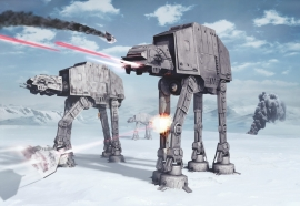 Star Wars Battle of Hoth fotobehang 8-481