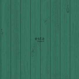 Esta Greenhouse  krijtverf smalle houten vintage sloophout planken jungle groen 128853