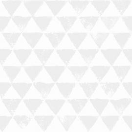 Onszelf Driehoekjes behang wit grijs OZ 3092