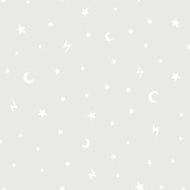 Stars and Moon 90980 Grijs