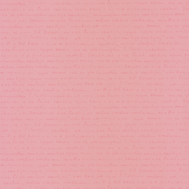 Tekst behang  roze 4008