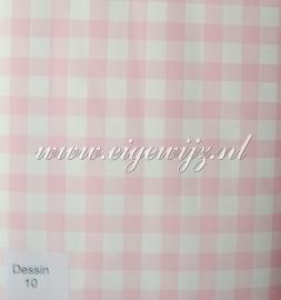 16. Behang per meter Ruitje roze wit