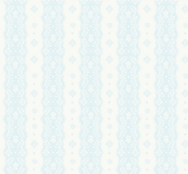 Dentelle stripe pale blue behang 2200303