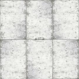Esta Greenhouse Zinken platen behang 138877 licht warm grijs