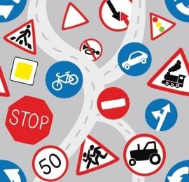 13052 Traffic Signs Dutch DigiWalls Olly Fotobehang