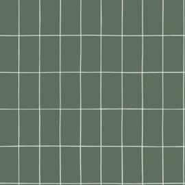 Esta Home Let's Play! behang klein tegeltjes 139031 vergrijsd groen wit