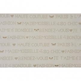 017. Franse woorden in creme/goud