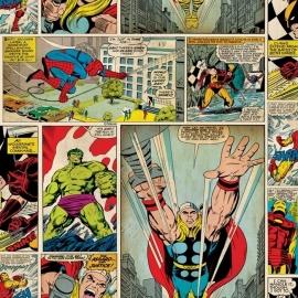 Kids@Home Marvel Comic Strip behang 70-264