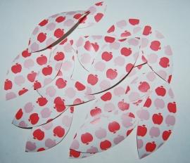 Behangblaadje appeltjes in 2 kleuren roze