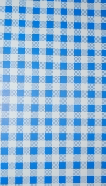 25. Behang per meter Blauw wit