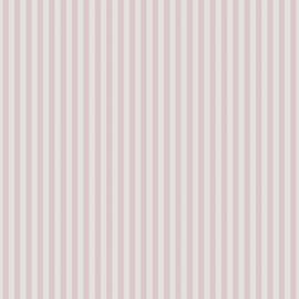 Streepjesbehang roze wit