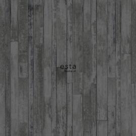 Zwart Hout behang 138815