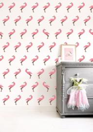 KEK Amsterdam Kids behang Tangram Flamingo WP-422