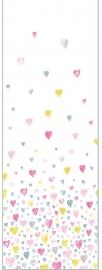 053. Hartjespaneel geel roze turquoise