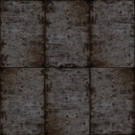 Esta Greenhouse Zinken platen behang bruin zwart en grijs 138880