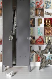 Esta Home FAB Wallpaper XXL Houten licht letters 158816