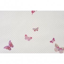 036. Caselio Vlinderbehang in paars/roze/grijs