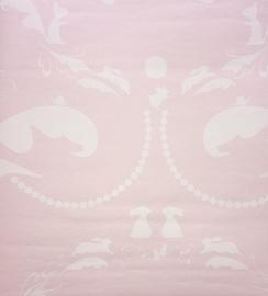 Onszelf Hondjesbehang roze oz 7804