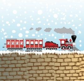 13010 Snow Train Dutch DigiWalls Olly Fotobehang