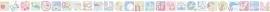 ABC behangrand roze groen blauw 112